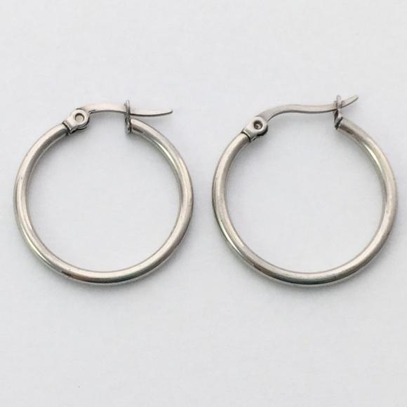 989a4c2bff346 Medium silver hoop hoops earrings 20mm wide